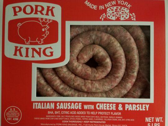 Pork King Italian Sausage with Cheese & Parsley