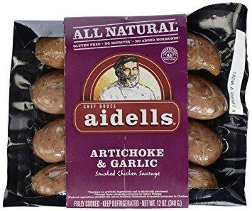Aidells Artichoke & Garlic Chicken Sausage