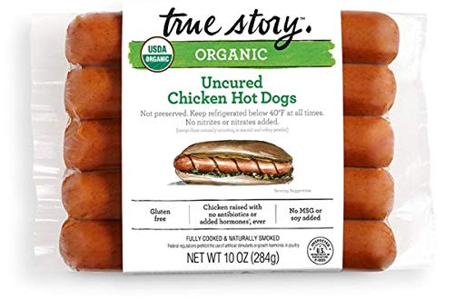 True Story Uncured Chicken Hot Dogs