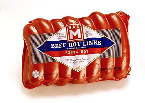 Bar M Extra Hot Beef Hot Links Sausage