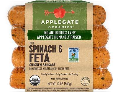 Applegate Spinach & Feta Chicken Sausage