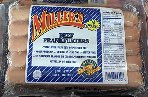 Miller's Beef Frankfurters