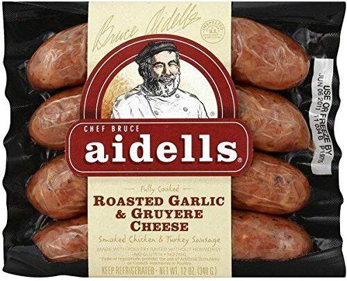 Aidells Roasted Garlic & Gruyere Cheese Chicken Sausage