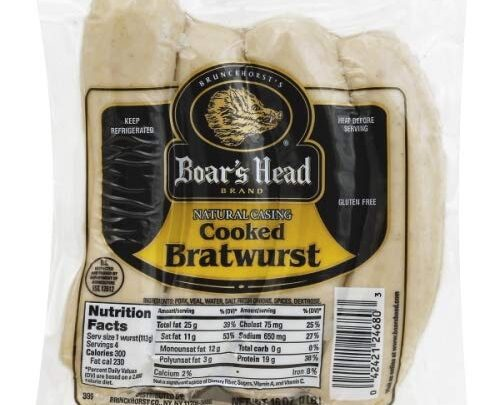 Boar's Head Cooked Bratwurst