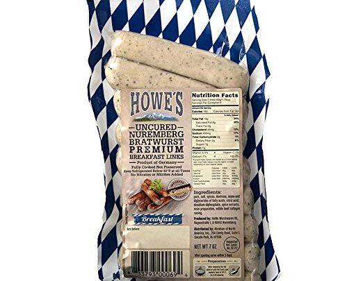 Howe's Uncured Nuremberg Bratwurst