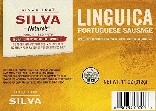 Silva Naturals Linguica Portuguese Sausage