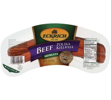 Eckrich Beef Polska Kielbasa