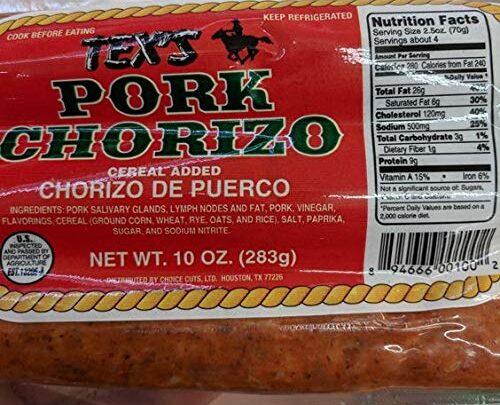 Tex's Pork Chorizo