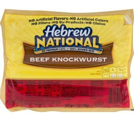 Hebrew National Beef Knockwurst