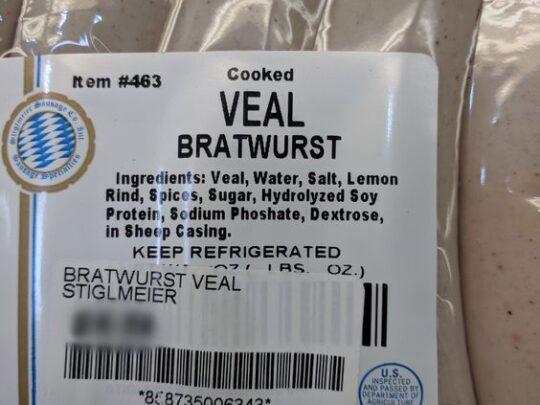 Stiglmeier Veal Bratwurst