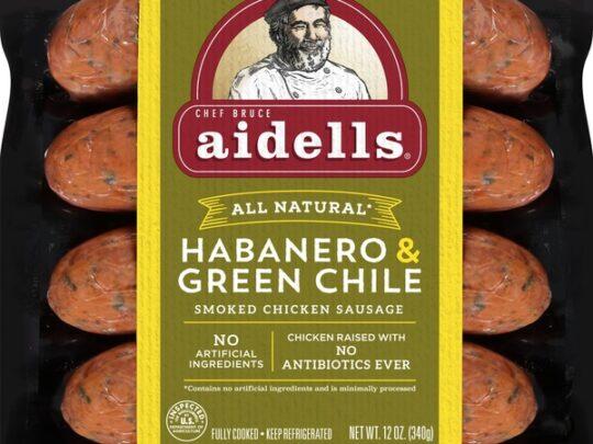 Aidells Habanero Green Chile Chicken Sausage